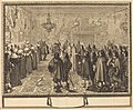 Abraham Bosse, Ceremony of the Contract of Marriage between Vladislas IV, King of Poland, and LouiseMarie of Gonzaga, Princess of Mantua, at Fontainbleau, 1645, NGA 41800.jpg