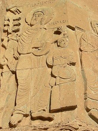 Hand of God (art) - The Hand of God intervenes at the Sacrifice of Isaac, Armenian, Akdamar, 10th century