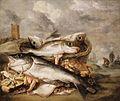 Abraham van Beijeren - Still Life of Fish on the Shore at Egmond aan Zee.jpg