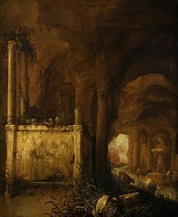 Abraham van Cuylenborch - A Tomb in a Grotto.jpg