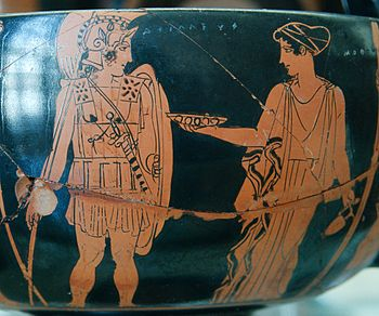 A thesis statement for Helen of Troy depicted as a symbol of destruction?