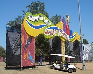 Main entrance of the 2005 Austin City Limits Music Festival in Zilker Park.