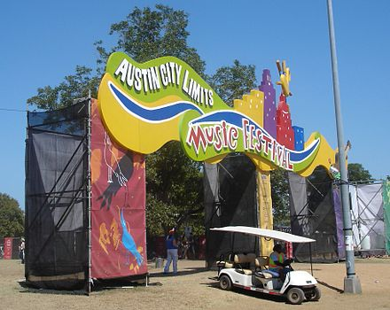 Main entrance to the festival in 2005. Aclfestival main entrance 2005.JPG