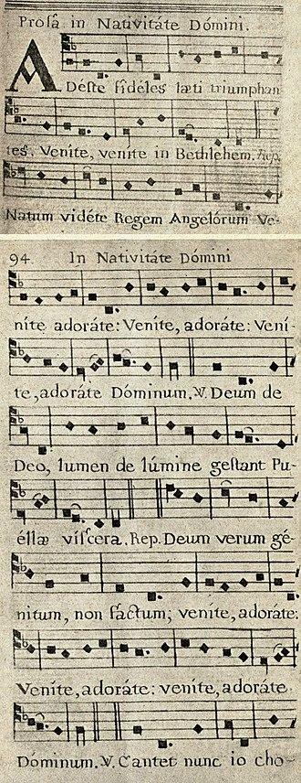 O Come, All Ye Faithful - Adeste, fideles (earliest printed version)