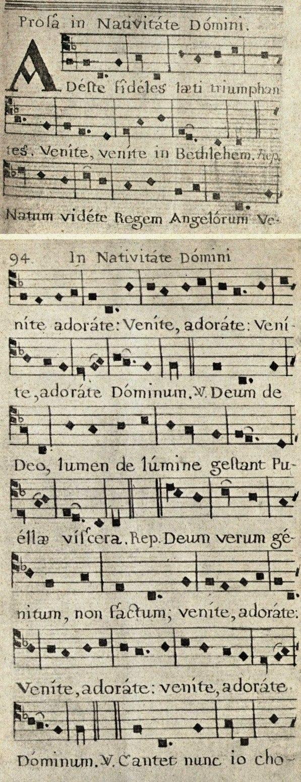 Adeste, fideles (earliest version)