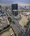 Aerial View of the Singapore River at Clarke Quay....jpg