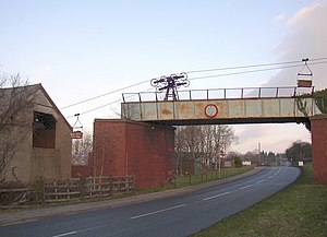 Claughton, Lancaster - Image: Aerial ropeway, Claughton geograph.org.uk 639705