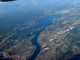 Aerial view of Dyes Inlet and Bremerton facing northwest.jpg