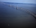 Aerial view of the Chesapeake Bay Bridge, connecting Annapolis with Maryland's Eastern Shore LCCN2011635445.tif