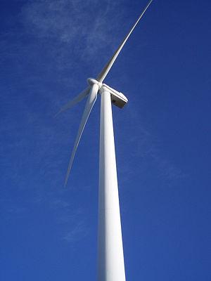 Renewable energy in Spain - Image: Aerogenerador Unión Fenosa