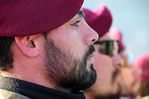 Maroon beret - Afghan National Army commandos