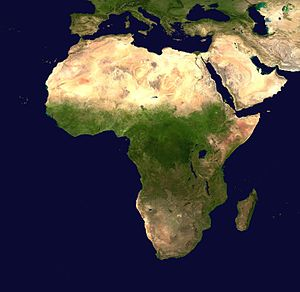 Geography of Africa - Satellite view of Africa