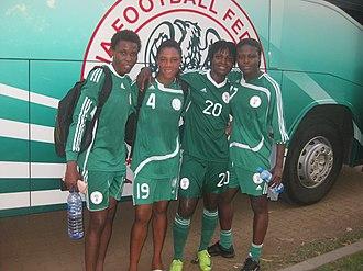 Nigeria women's national football team - Super Falcons after a training
