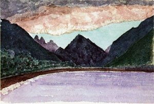 "Tautira - Henry Adams, ""Afterglow in the Tautira Valley "", 1891"
