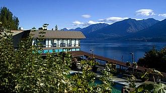 Ainsworth, British Columbia - Image: Ainsworth Hot Springs F8H58545