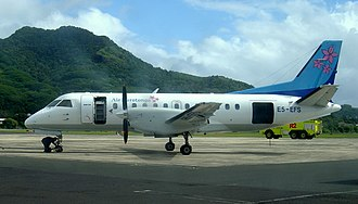 Air Rarotonga - Air Rarotonga Saab 340 on the tarmac at Rarotonga International Airport