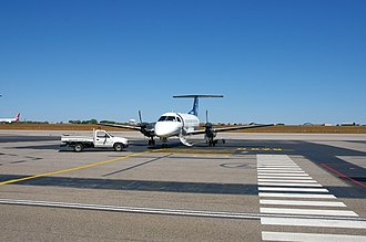 Airnorth - Airnorth Embraer EMB 120 Brasilia at Darwin International Airport during the dry season.