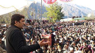 Ajaz Ahmed Khan ajaz sahab while addressing a public gathering