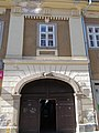 Akantisz-Végh house (1790s), gate. - 7 Szent János Street, Eger, 2016 Hungary.jpg