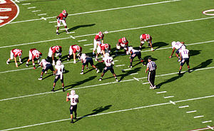 2012 Alabama Crimson Tide football team - The Alabama offense set for a play in the first quarter