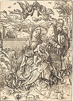 Albrecht Dürer, The Holy Family with the Three Hares, c. 1497-1498, NGA 617.jpg