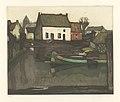 Album 8 estampes (en couleurs) (06) - Bord du canal, print by Armand Apol (1879-1950), Belgium, Prints Department of the Royal Library of Belgium, S.III 112562.jpg