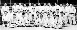 All-Japan Judo Championships - The participants of championship in 1954