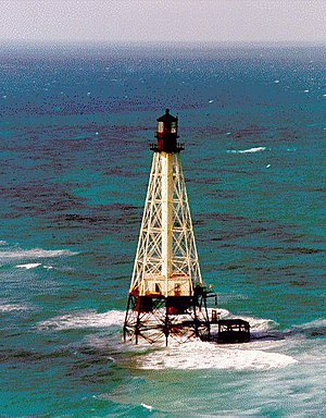 English: Alligator Reef Lighthouse, east of In...