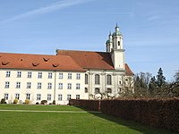 Allmannshofen, A - Holzen - Kloster m Kirche v S 02.jpg