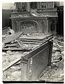 Altar in a church wrecked by German shells (Richebourg, France). Photographer- H. D. Girdwood. (13875731394).jpg
