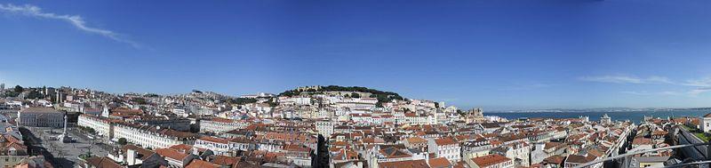 Altstadt Lisboa vom Elevador de Santa Justa