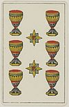 Aluette card deck - Grimaud - 1858-1890 - Six of Cups.jpg