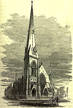 Drawing of St. Nicholas Collegiate Reformed Protestant Dutch Church