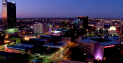 Amarillo Skyline at Dusk in January 2018.png