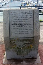 Amelia Earhart Commemoration Stone - Burry Port.jpg