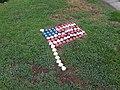 American flag made of shells, Tangier.jpg
