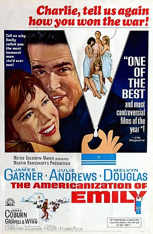The Americanization of Emily - Image: Americanization of Emily poster