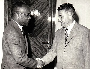 Amílcar Cabral - Amílcar Cabral with Nicolae Ceaușescu.