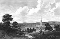 An 1806 view over Grantham, Lincolnshire England possibly from Somerby Hill.jpg