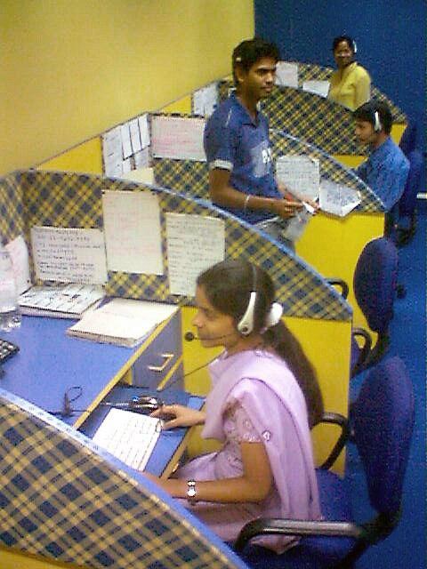 An Indian call center