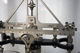 Analytical balance - Mechanical analytical balance (detail)