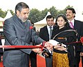 Anand Sharma inaugurating an exhibition, at the 'Technotex 2013'-International Exhibition and Conference, in New Delhi on January 17, 2013. The Secretary, Ministry of Textiles, Smt. Kiran Dhingra is also seen.jpg