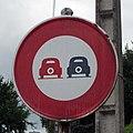 Ancien panneau interdiction de dépasser (Bellerive-sur-Allier) 2011-06-29.JPG