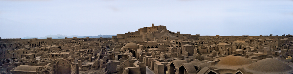 The citadel of Bam, Iran, or Arg-é Bam, in Kerman Province, Iran: The world's largest adobe structure, dating to at least 500BC