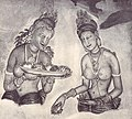 Ancient Sinhalese Ladies (Sigiriya Frescoes Before 1967).jpg