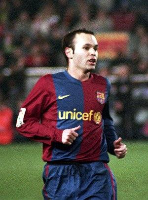 Andrés Iniesta, Futbol Club Barcelona's player...