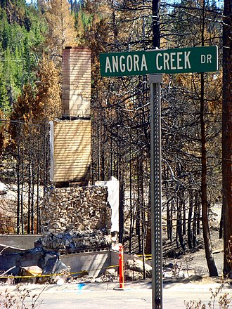 Angora Fire - One of the destroyed homes, on Angora Creek Drive