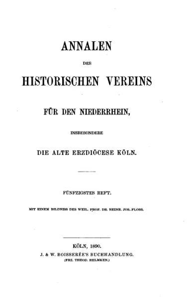 File:Annalen des Historischen Vereins für den Niederrhein 50 (1890).djvu