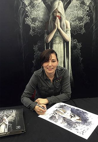 Anne Stokes - Anne at signing event, NEC 2016