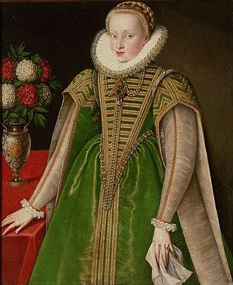 Maria Christina, Princess of Transylvania - Portrait of Maria Christina, Princess of Transylvania, ca. 1592.